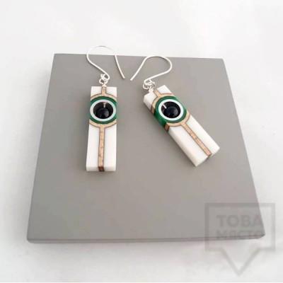 Висящи обеци Panayotov - emerald