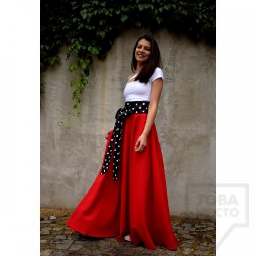 Дамска дълга пола Parola - Margery red