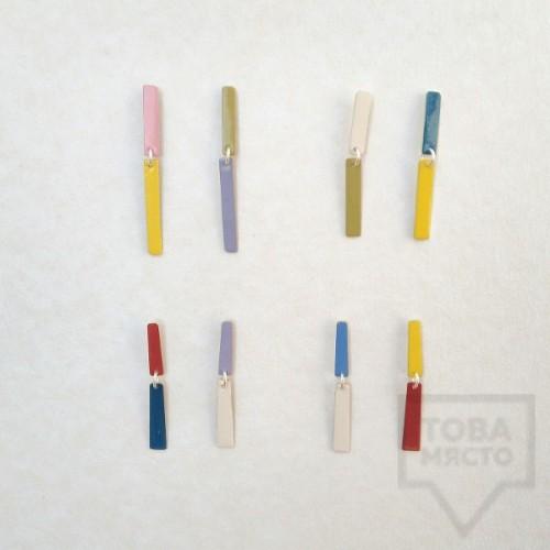 Дизайнерски обеци Polina Dimitrova-color waterfall