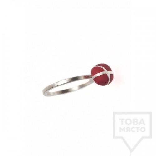 Сребърен пръстен Polina Dimitrova-minimalistic geometry