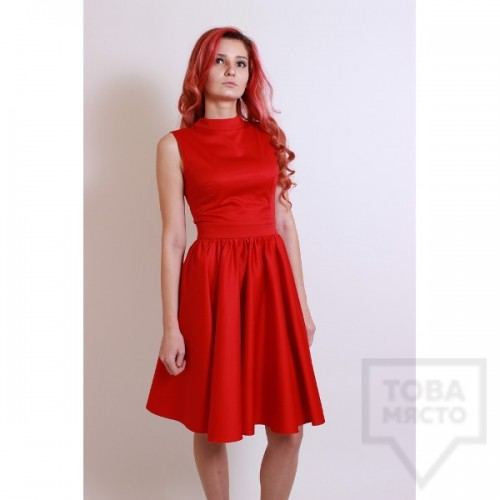 Дизайнерска рокля Polina Petrova - Red V