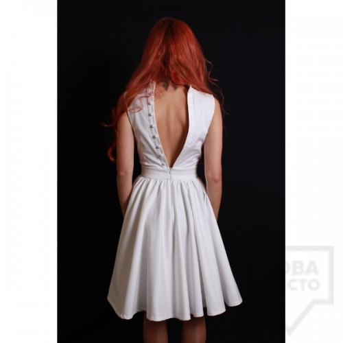 Дизайнерска рокля Polina Petrova - White V
