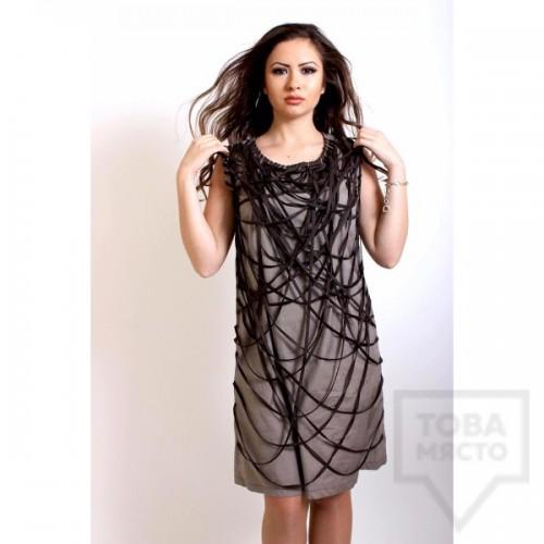 Дизайнерска рокля Polina Petrova - Brown Flow