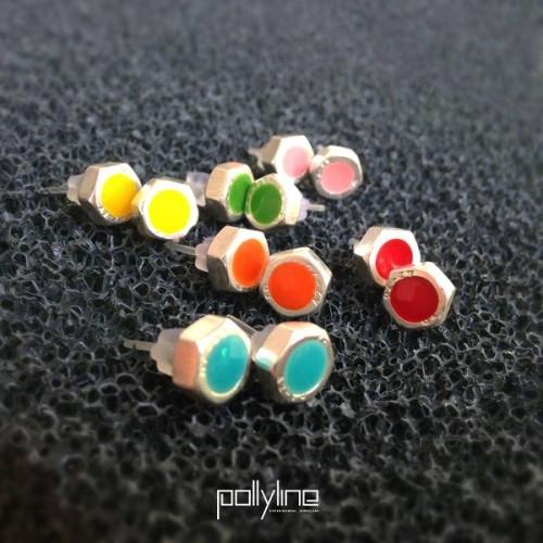 Обеци Pollyline - гайки