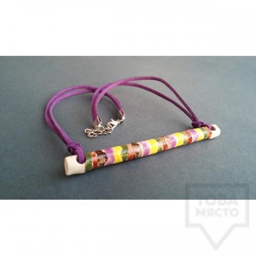 Ръчно изработено колие RumsiRum - Dreaming in purple