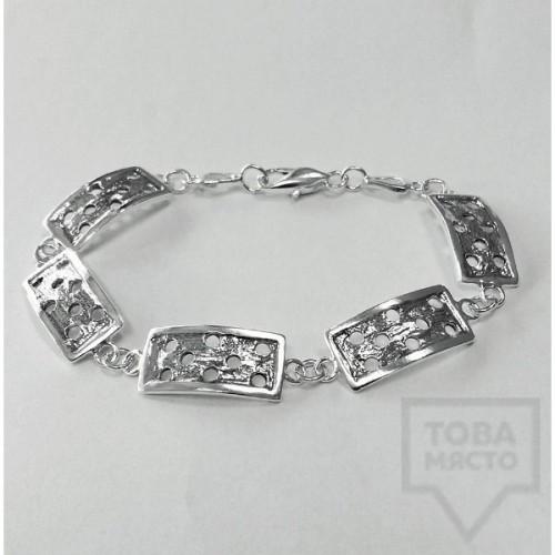 Сребърна гривна Silvera - Домино