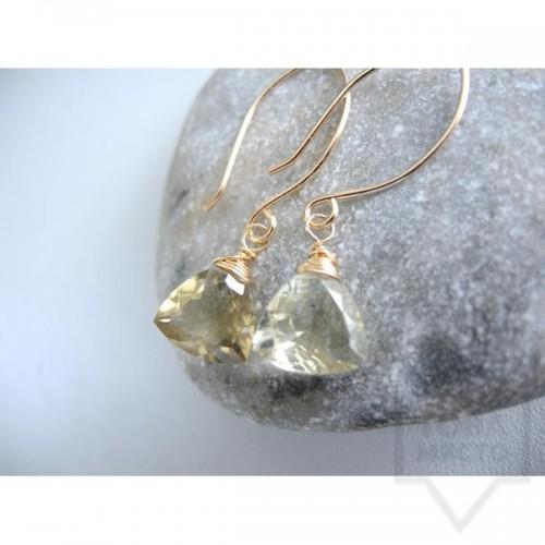 Ръчно изработени обеци Songe Jewelry - Lemon Quartz