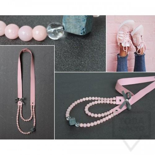 Ръчно изработено колие Vyara Tzeneva Jewellry - double pink