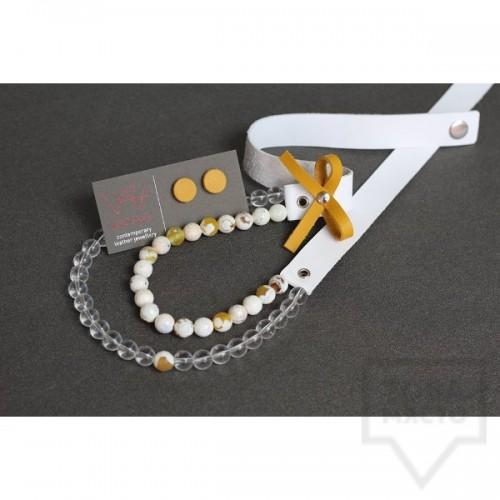 Ръчно изработено колие Vyara Tzeneva Jewellery - double white transperant