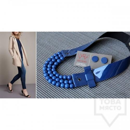 Ръчно изработено колие Vyara Tzeneva Jewellery - tripple blue