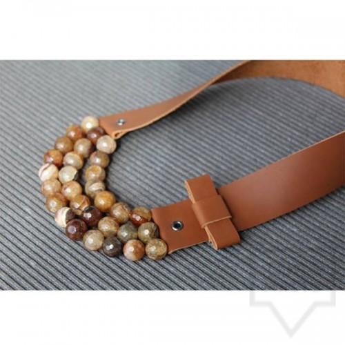 Ръчно изработено колие Vyara Tzeneva Jewellery - triple autumn
