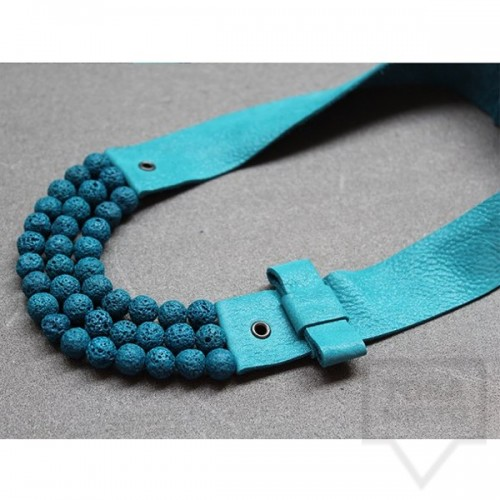 Ръчно изработено колие Vyara Tzeneva Jewellery - triple turquoise