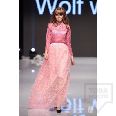 Дамска дълга пола Wolf Walley - розова