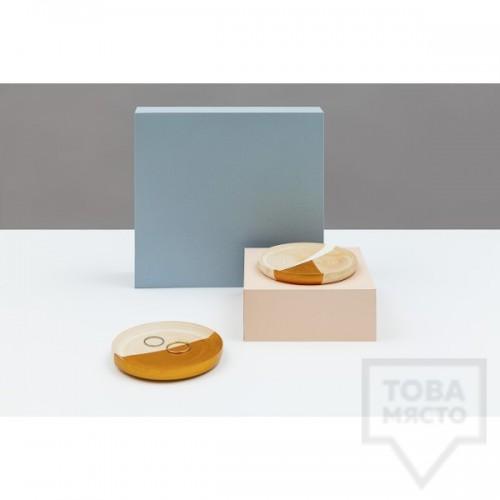 Декоративна дървена чинийка за бижута I/TEAMS