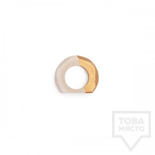 Дървени фасетирани пръстени за салфетки I/TEMS- златни