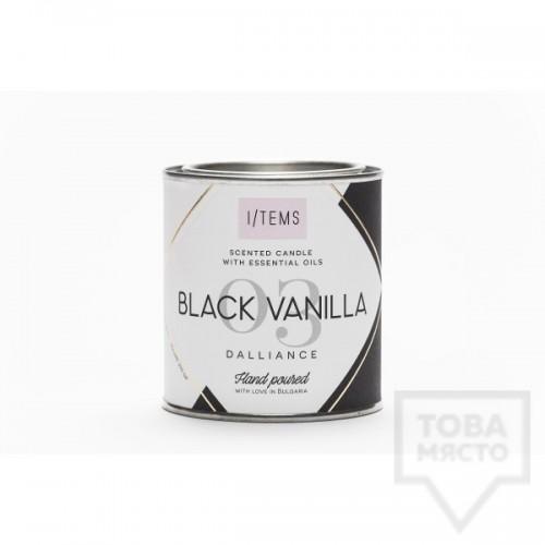 Луксозна ароматна свещ I/TEMS - Black Vanilla