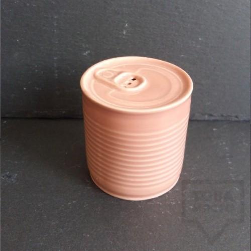Ръчно изработена порцеланова солница - консерва - Korchev Design Studio - baby pink