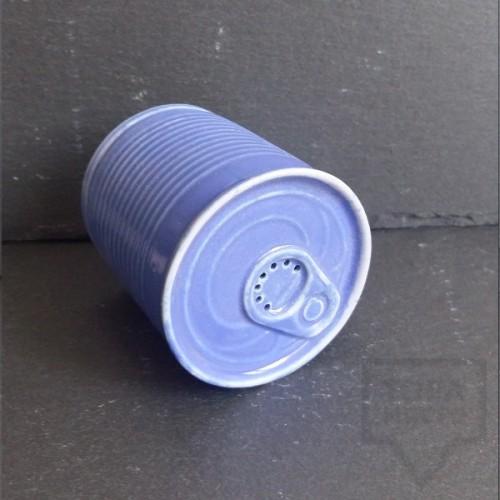 Ръчно изработена порцеланова солница - консерва - Korchev Design Studio - sky blue