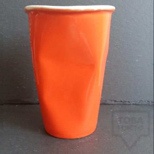 Ръчно изработена порцеланова чаша Korchev Design Studio - big orange