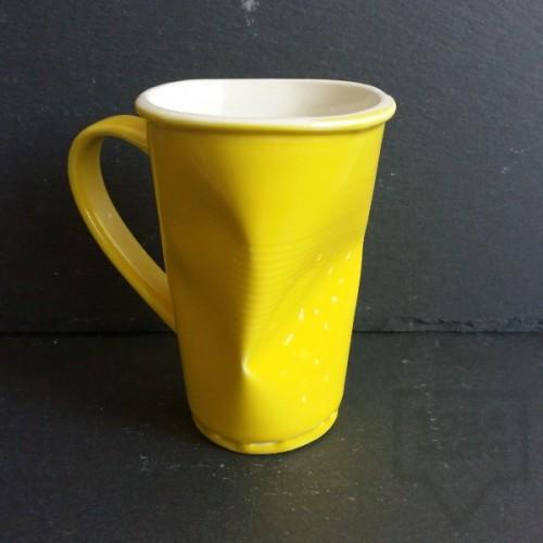 Ръчно изработена порцеланова чаша Korchev Design Studio - big yellow can