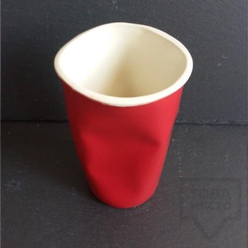 Ръчно изработена порцеланова чаша Korchev Design Studio - big red cup