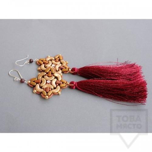 Обеци Songe - естествени перли