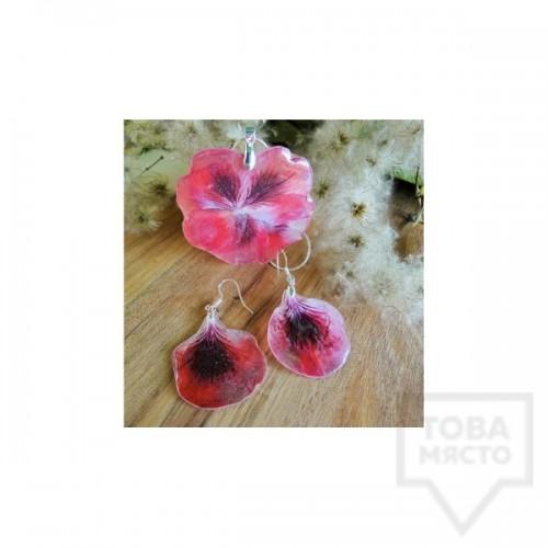 Ръчно изработен комплект Megan Flower - Цикламена Налба