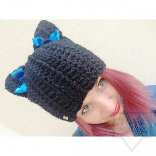 Дизайнерска шапка Lollipop - black cat