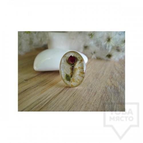 Дизайнерки пръстен MeganFlo - Пъпка от роза