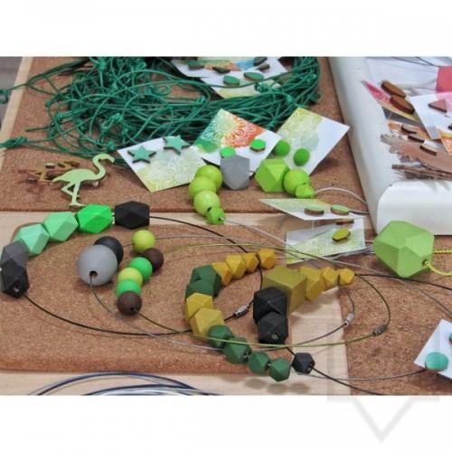 Ръчно изработено колие Lollipop - Дървени фигури