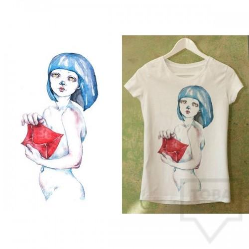 Ръчно рисувана тениска Dreams in Drawings - The Envelope