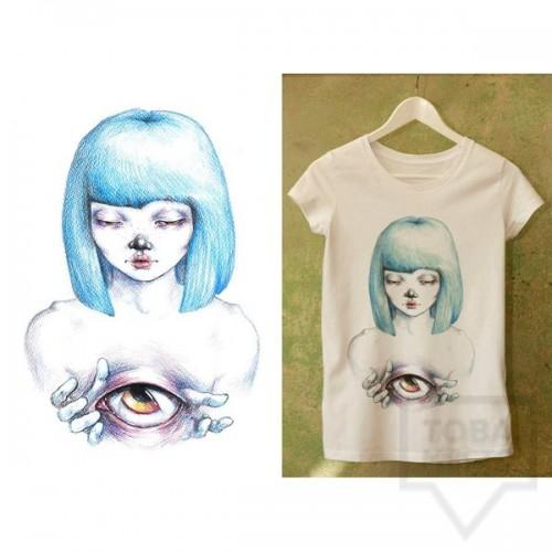 Ръчно рисувана тениска Dreams in Drawings - The Eye