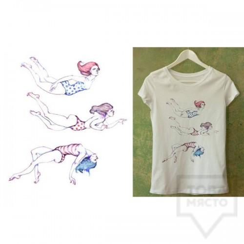 Ръчно рисувана тениска Dreams in Drawings - The Girls