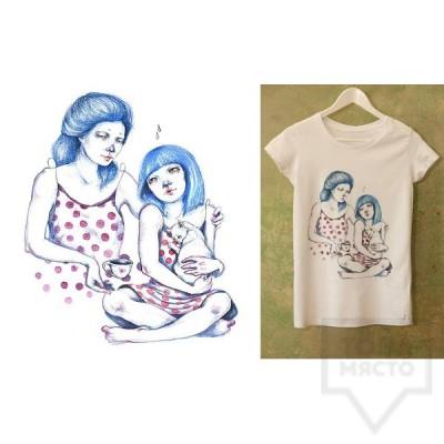 Ръчно рисувана тениска Dreams in Drawings - The Love Of Mom