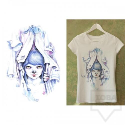Ръчно рисувана тениска Dreams in Drawings - The Wardrobe