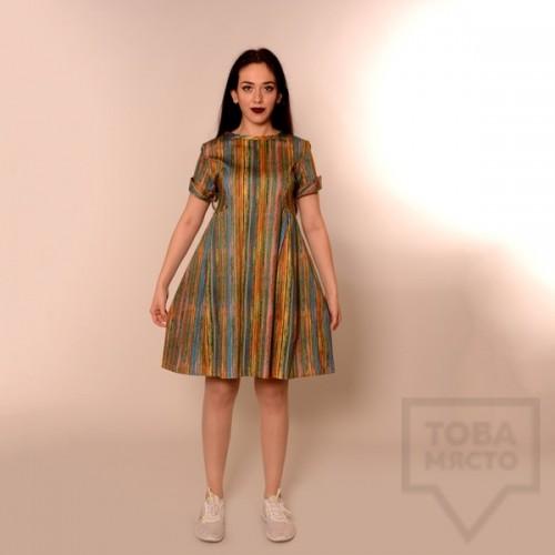 Дизайнерска рокля Review - пъстри раета
