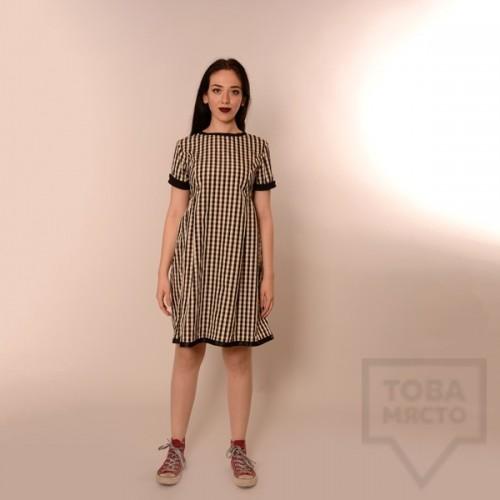 Дизайнерска рокля Review - черно-бяло рае
